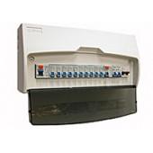 8WAY SPLIT BOARD C/W 100A MS & 2X63A RCD